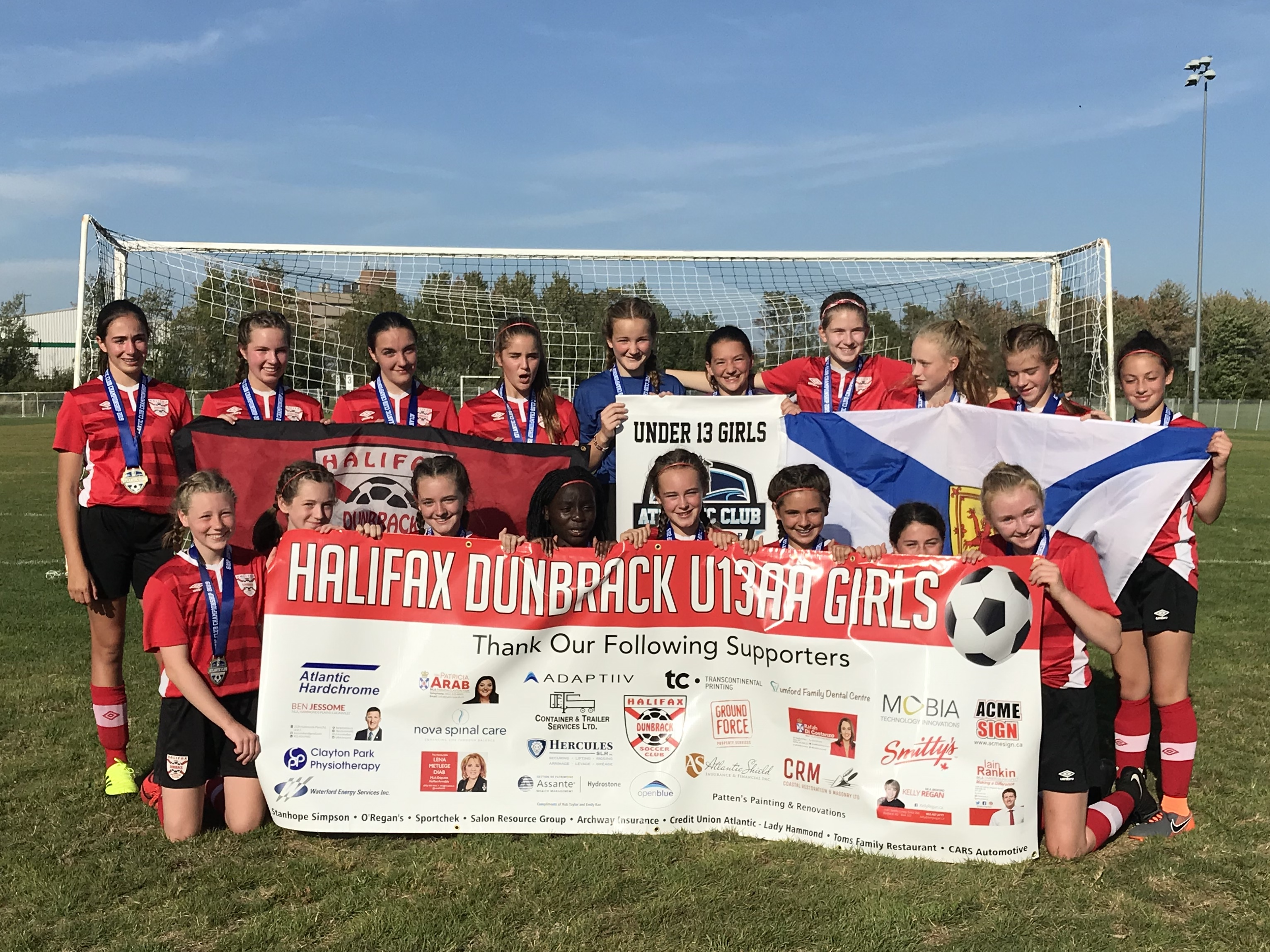 Dunbrack U13AA Girls Win Gold at Atlantics Championships!